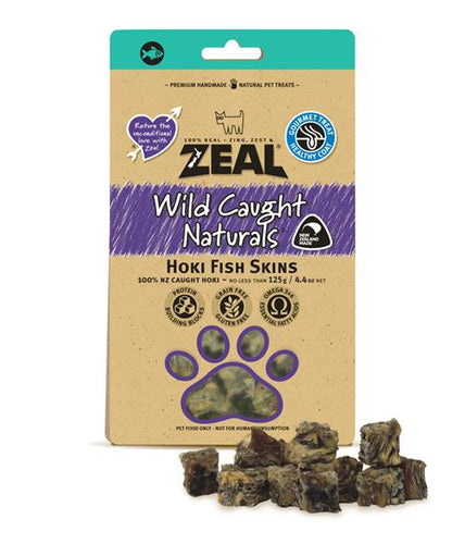 Zeal hoki fish skins dog treats nz