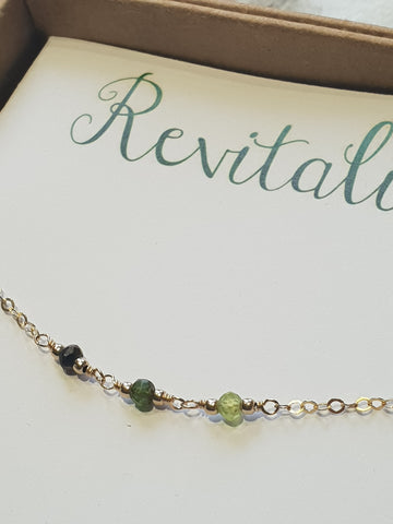 Revitalise - Crystal Energy Bracelet - Silver / Gold / Rose Gold