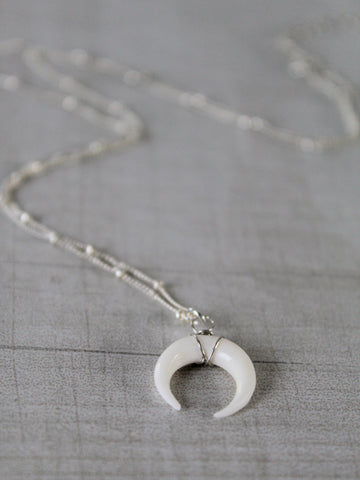 Wild Moon Necklace - Silver