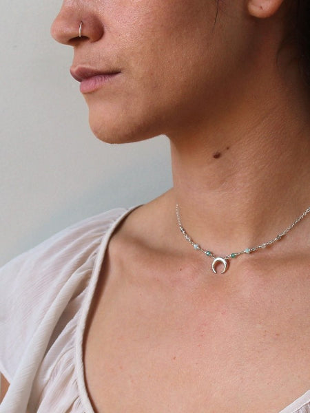 Rising Moon Necklace - Oceana - Silver / Gold / Rose Gold