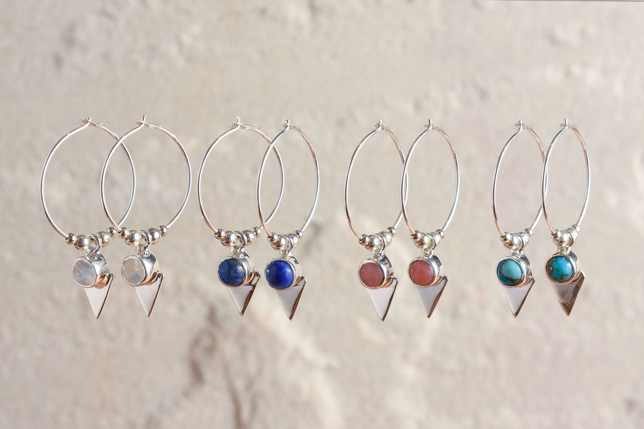 Elixir Hoops in Silver
