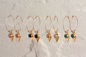 Elixir Hoops in Gold