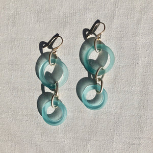 Earrings - Sterling silver and glass