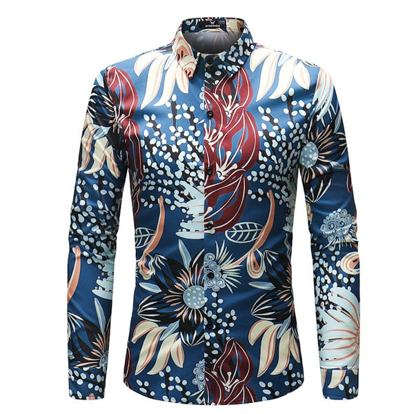 El Parche Blues Garden Long Sleeve Shirt - Pacho Herrera Narcos Shirts