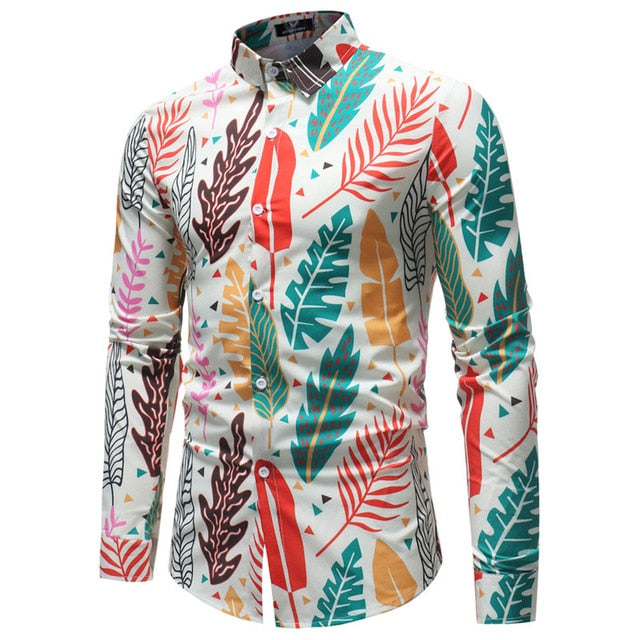 El Parche Leaf Impression Long Sleeve Shirt - Pacho Herrera Narcos Shirts