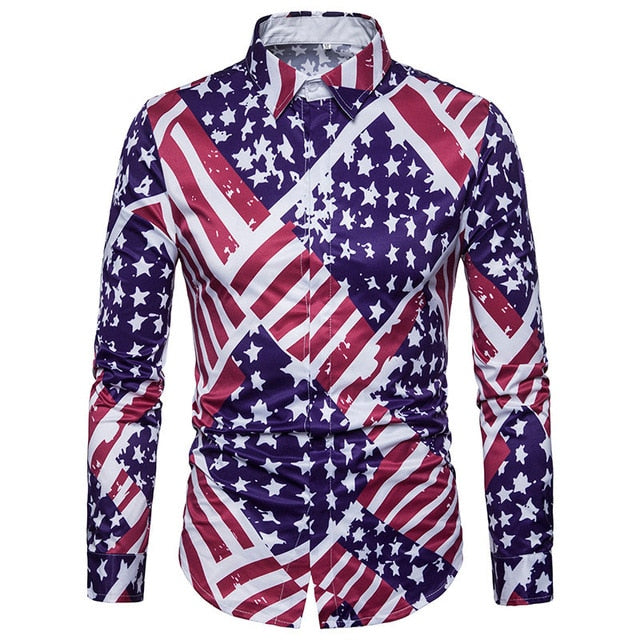 El Parche Stars and Stripes Long Sleeve Shirt - Pacho Herrera Narcos Shirts