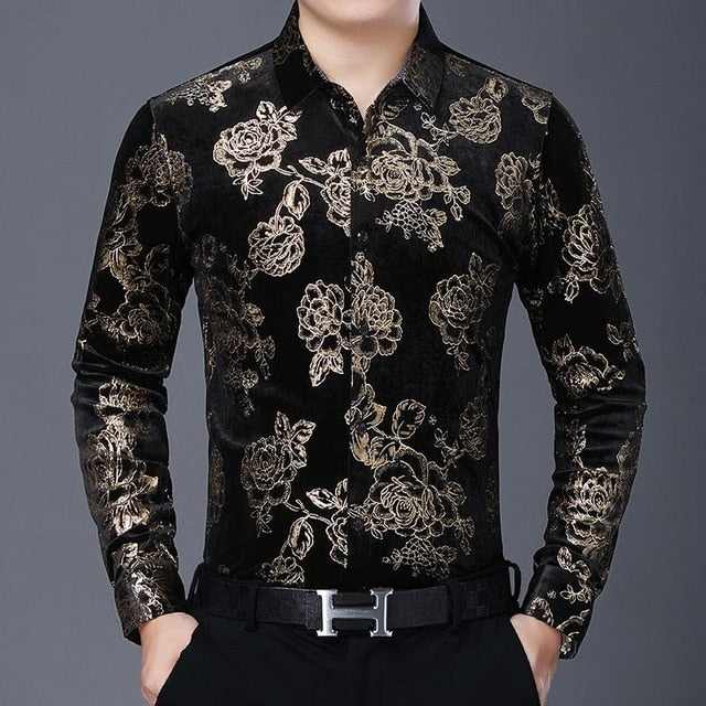 Chido Rose Gilding Long Sleeve Gold