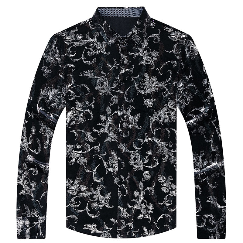 Chido Floral Contrast Long Sleeve Silver