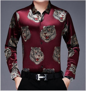 Chido Tiger Long Sleeve Red