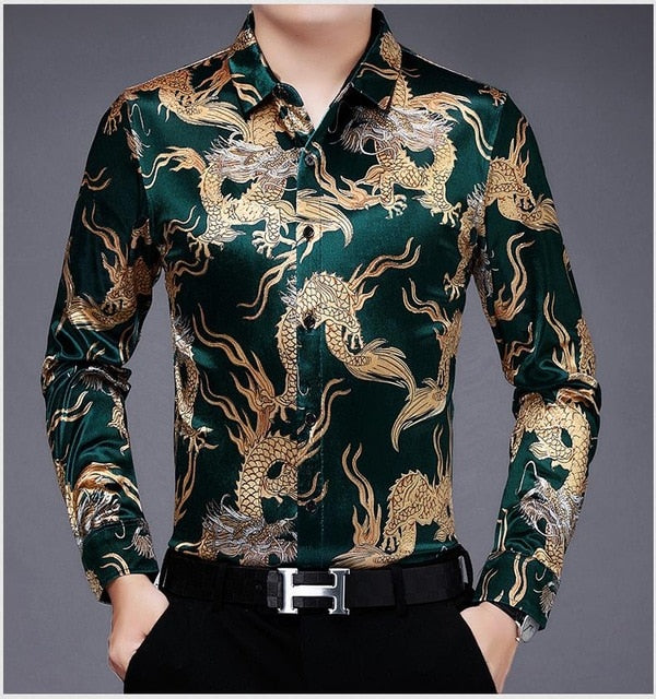 Chido Golden Dragon Long Sleeve Green