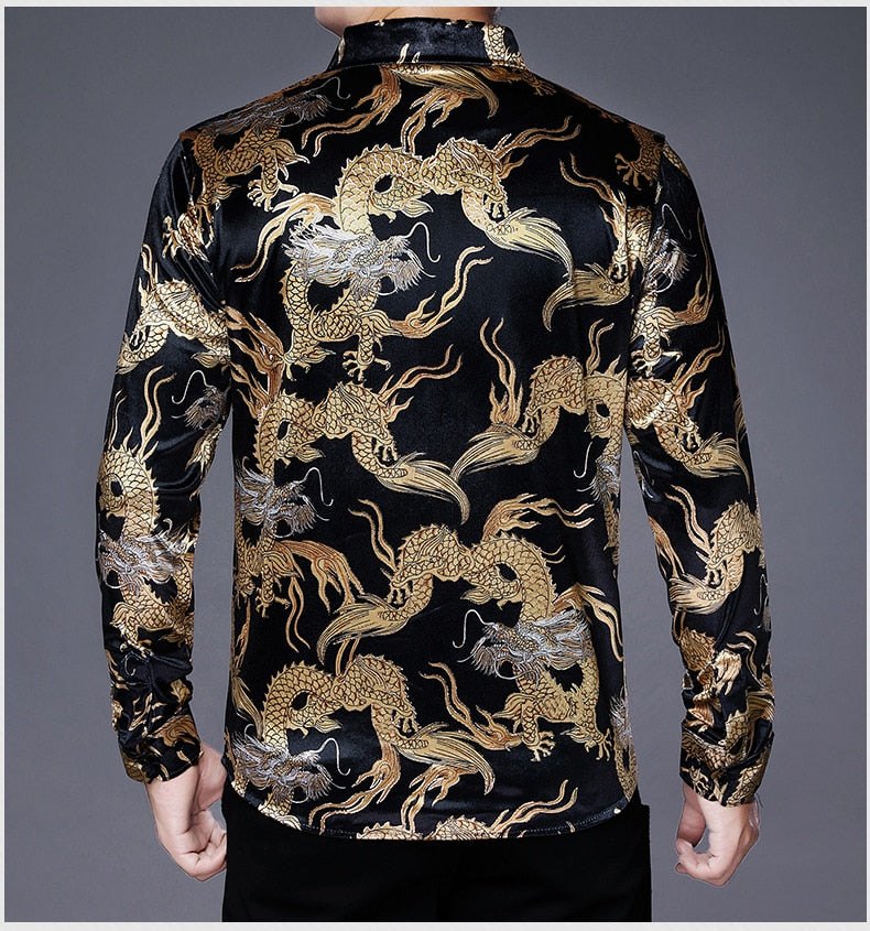Chido Golden Dragon Long Sleeve Black