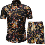 Verano Dragon and Chain Short Sleeve and Shorts Combo