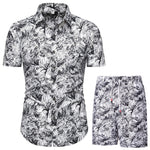 Verano Jungle Collage White Short Sleeve and Shorts Combo