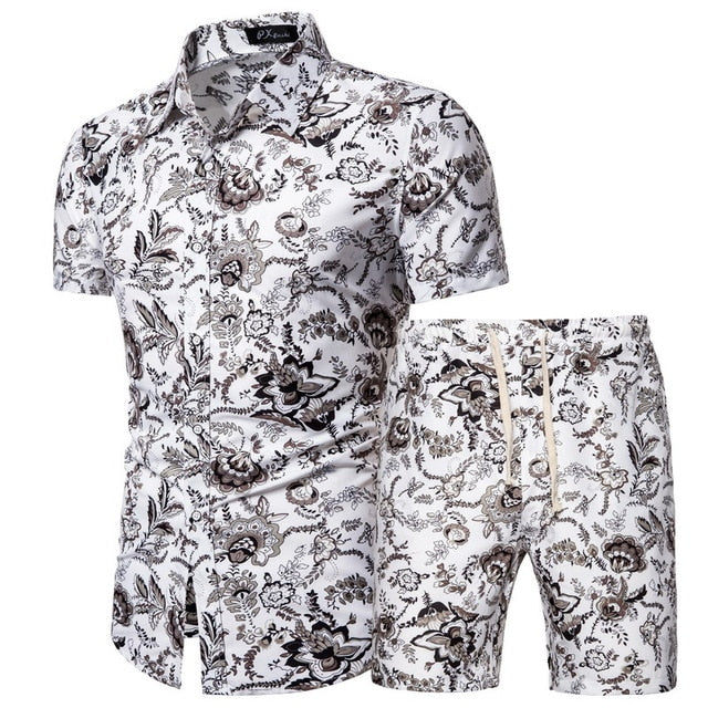 Verano Black and White Thistle Short Sleeve and Shorts