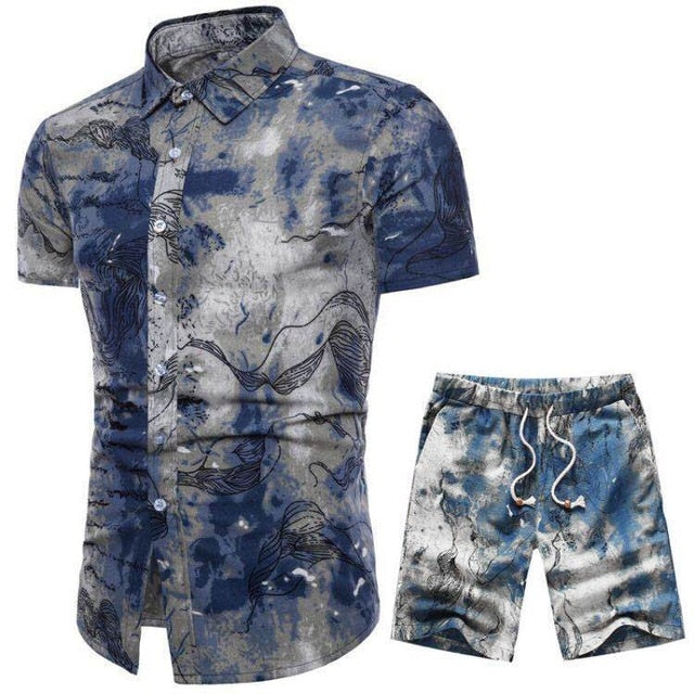 Verano Floating Kelp Short Sleeve and Shorts Combo