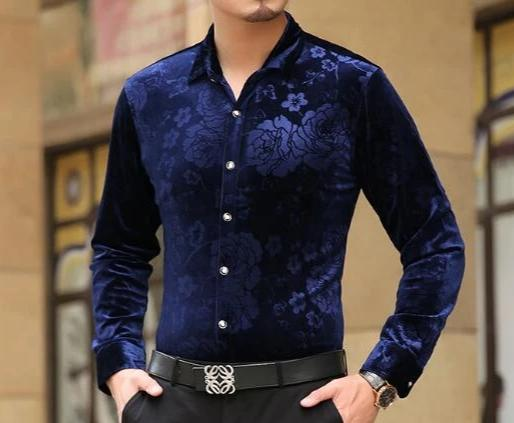 Chango Ocana Long Sleeve Shirt (Blue) - Pacho Herrera Narcos Shirts