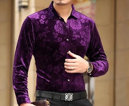 Chango Ocana Long Sleeve Shirt (Purple) - Pacho Herrera Narcos Shirts
