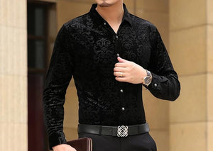 Chango Giradot Long Sleeve Shirt (Black) - Pacho Herrera Narcos Shirts
