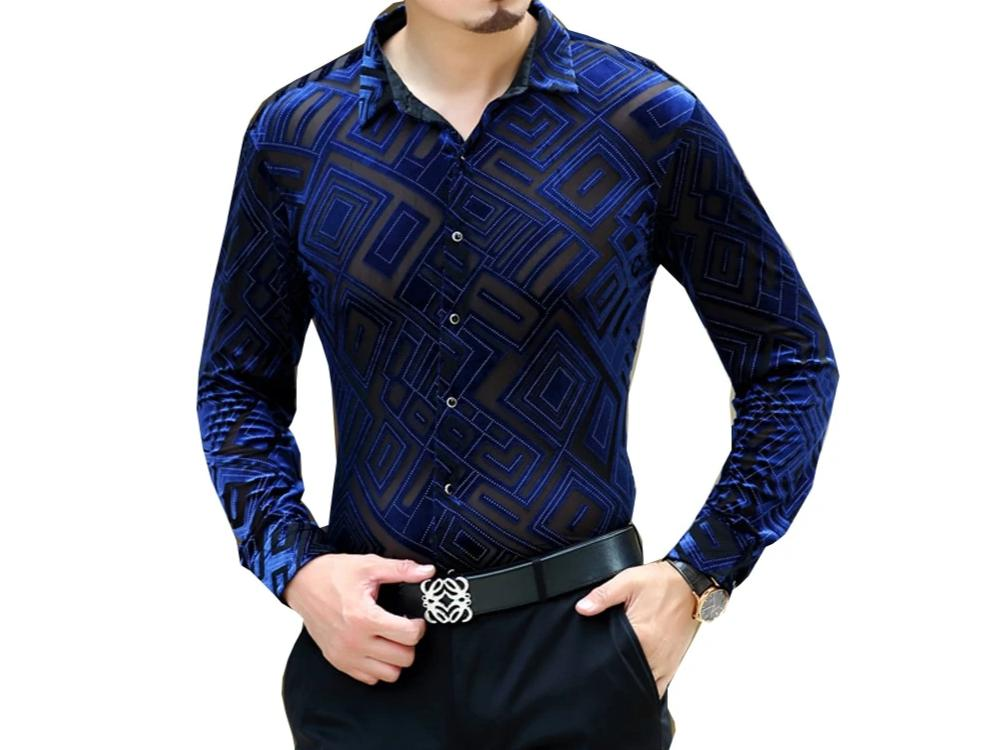 Chango Pitalito Long Sleeve Shirt (Blue) - Pacho Herrera Narcos Shirts