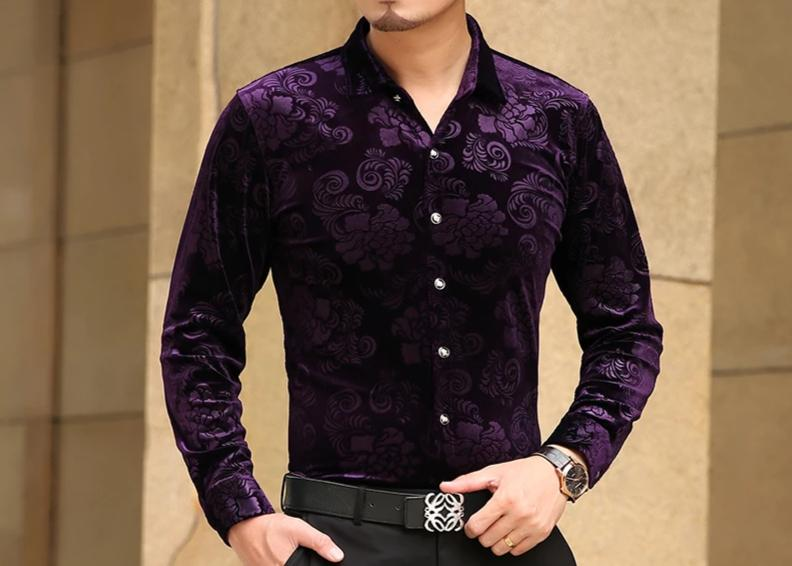 Chango Espinal Long Sleeve Shirt (Purple) - Pacho Herrera Narcos Shirts