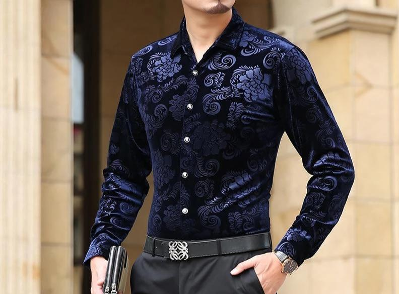 Chango Espinal Long Sleeve Shirt (Blue) - Pacho Herrera Narcos Shirts