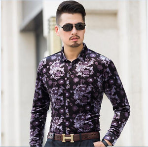 Machotes Purple and Gold Velvet - Pacho Herrera Narcos Shirts