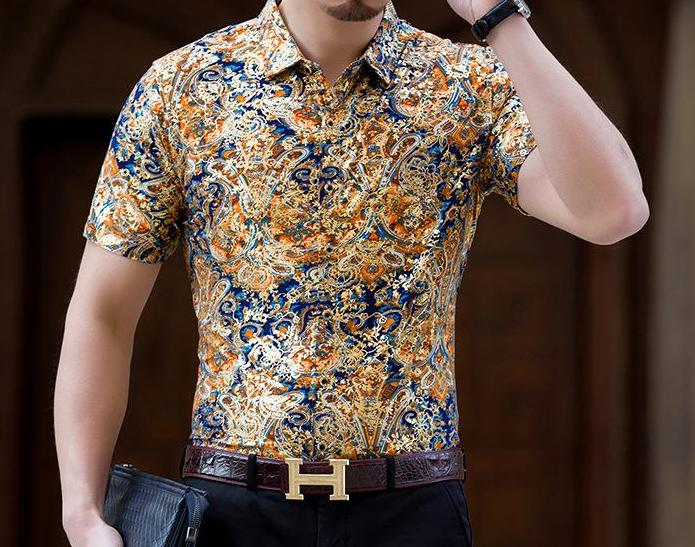 Machotes Orange Eastern Rug Short Sleeve Shirt - Pacho Herrera Narcos Shirts