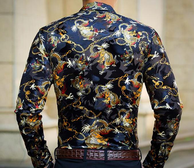 Machotes Chained Dragon Long Sleeve - Pacho Herrera Narcos Shirts