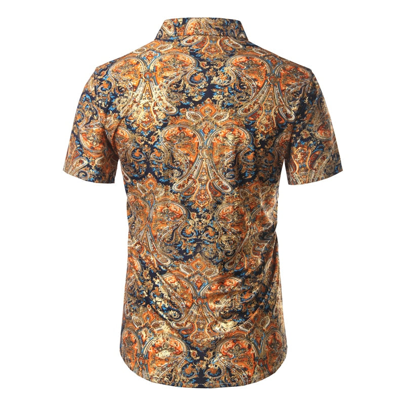 Mierda Blue Gold and Orange Short Sleeve