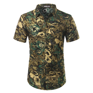 Mierda Green Gold and Yellow Short Sleeve