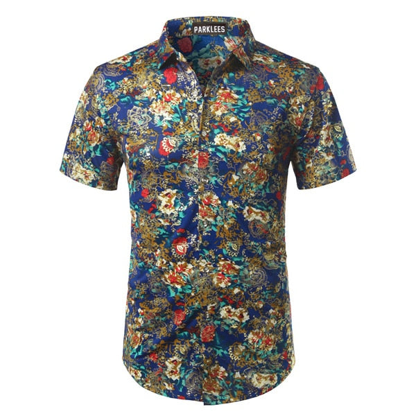 Mierda Blue Red and Gold Short Sleeve