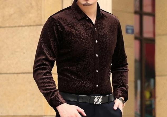 Chango Fusagasuga Long Sleeve Shirt (Brown) - Pacho Herrera Narcos Shirts