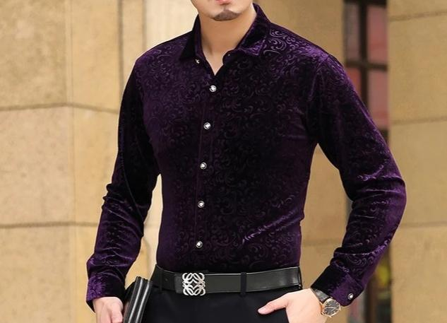 Chango Fusagasuga Long Sleeve Shirt (Purple) - Pacho Herrera Narcos Shirts