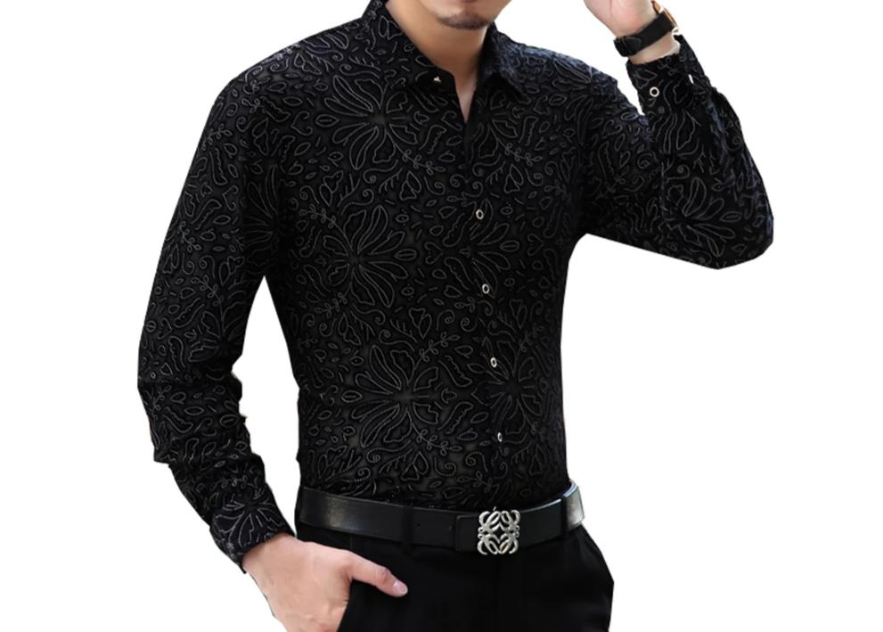 Chango Sogamoso Long Sleeve Shirt (Black, Red, and Blue) - Pacho Herrera Narcos Shirts