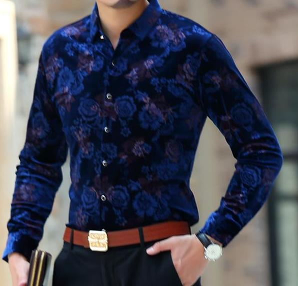 Machotes Subtle Rose Blue Long Sleeve - Pacho Herrera Narcos Shirts
