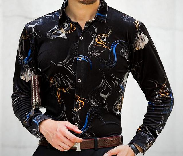 Machotes Black/Blue/Red Long Sleeve Shirt - Pacho Herrera Narcos Shirts