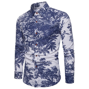 Bacano Blue Jungle Long Sleeve - Pacho Herrera Narcos Shirts