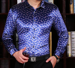 Machotes Blue Cerebral Long Sleeve Shirt - Pacho Herrera Narcos Shirts