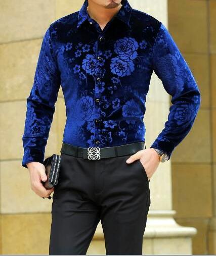 Machotes Black/Blue/Red Rose Long Sleeve Shirt - Pacho Herrera Narcos Shirts