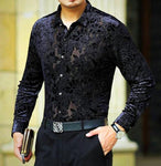 Machotes Hollow Black Rose Long Sleeve Shirt - Pacho Herrera Narcos Shirts