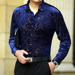 Machotes Hollow Blue Rose Long Sleeve Shirt - Pacho Herrera Narcos Shirts