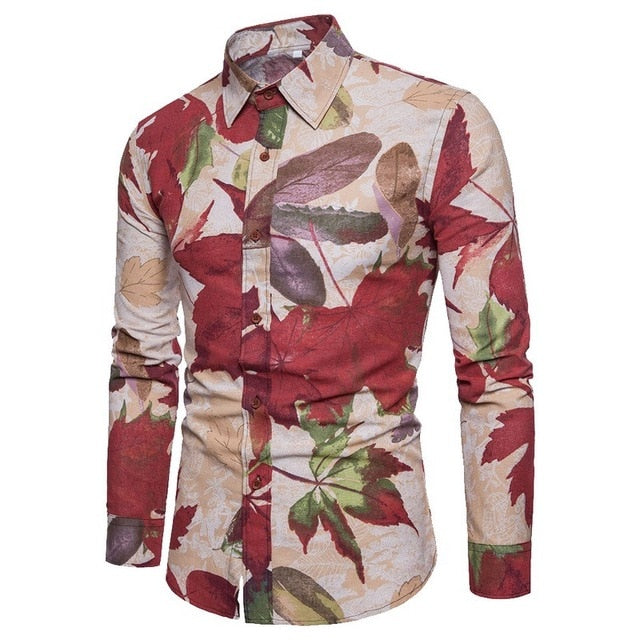 Bacano Leaves Long Sleeve - Pacho Herrera Narcos Shirts