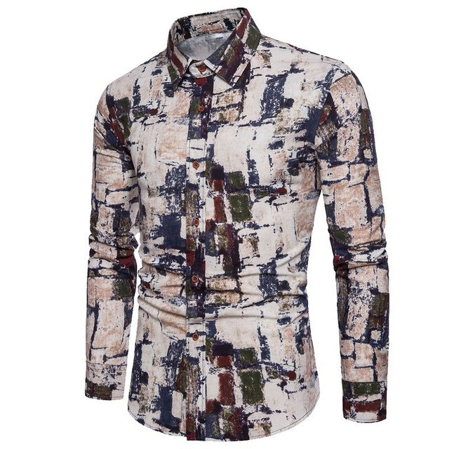 Bacano Rough Paint Long Sleeve - Pacho Herrera Narcos Shirts