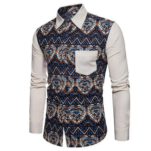 Bacano White Solid Long Sleeve - Pacho Herrera Narcos Shirts