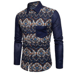 Bacano Blue Solid Long Sleeve - Pacho Herrera Narcos Shirts