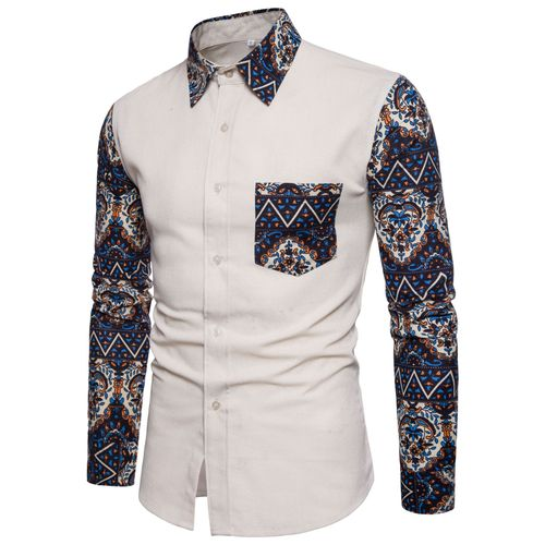 Bacano White with Blue Long Sleeve - Pacho Herrera Narcos Shirts