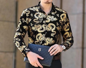 Chango Apartado Long Sleeve Shirt (Gold) - Pacho Herrera Narcos Shirts
