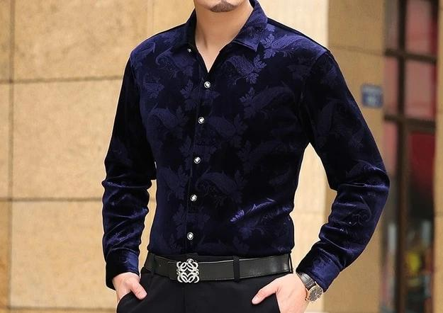 Chango Guatape Long Sleeve Shirt (Blue) - Pacho Herrera Narcos Shirts