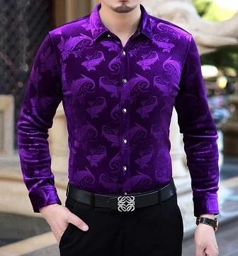 Chango Guatape Long Sleeve Shirt (Purple) - Pacho Herrera Narcos Shirts