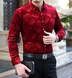 Chango Guatape Long Sleeve Shirt (Red) - Pacho Herrera Narcos Shirts